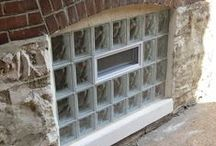 Glass Block Basement Windows / Basement windows using Glass Block for security and flood protection. Let light in without sacrificing safety.