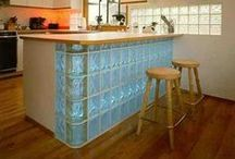 Glass Block in Kitchen Designs / Kitchen Designs with Glass Block and Glass