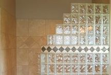 Bathrooms with Glass Block / This board highlights glass blocks in different bathroom applications.