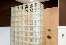 Glass Block Showers / This board highlights the different types and styles of glass block showers.