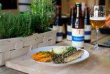 Bier en eten / Onze koks bereiden regelmatig overheerlijke recepten waarbij onze biersommeliers een bijpassend bieradvies geven.