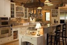 Rustic Kitchens / Live in the Northwoods, or just want to feel like you do?  Take a look at these kitchens for inspiration.