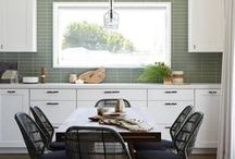 Small Kitchens / Just because you are short on space, doesn't mean you can't have function AND beauty.
