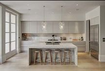 Gray Kitchens / Gray is the hottest color in home design.  It is neutral, allowing you to add your own personal flair with textures, finishes, and pops of color.