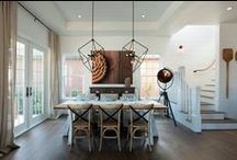 Dining Rooms / Dining rooms: a table for two, enjoying their morning coffee to a party of 12 conversing over a five course meal.  Meals and tables bring people together.