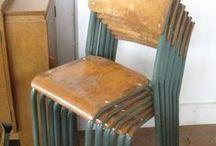 Gamle skole-stoler