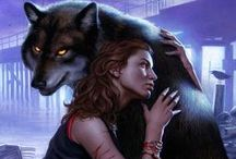 Art: Girl and Wolf