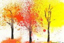 Výtvarné techniky - podzim
