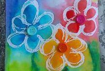 Výtvarné techniky - jaro