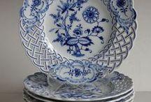 Porcelán - modrý