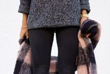 Autumn / Winter fashion / Cosy knits, jeans, chunky boots and scarfs ❄️☔️☁️