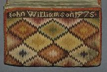 18th century Flame Stitch Pocketbooks / ... and other interesting forms of embroidered pocketbooks