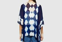 Desert Symmetries / A collection of hand clamp dyed garments, made in India.
