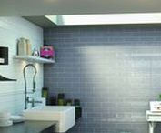 Bulevar Ceramic Wall Tiles / Handmade effect ceramic tiles in 100x300mm with decor options