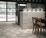 Memphis / A wall and floor porcelain tile range in a trendy hexagonal shape.