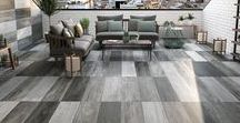 Old Station 10mm & 20mm Porcelain Tiles / Our Old Station collection of 10mm and 20mm thick porcelain tiles is perfect for use outdoors as they are 100% colourfast and hardwearing unlike concrete and stone slabs. Use the 10mm version indoors and then use the coordinating 20mm option out into the garden, for the inside - out living effect.