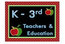 K - 3rd Teachers and Education / Collaborative board for everything K-3rd.  Teachers and homeschoolers welcome!   Collaborator Rules:  3 pins of paid product per day...PLUS at least one idea, freebie, blog post, etc... for every 3 paid, no matter how far you space them out.   Don't flood the board...