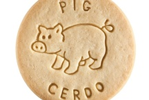 Pig - Cerdo / At Dick & Jane Baking Company, we have successfully combined whole grain nutrition and education into our new line of healthy, nut free, educational snacks.