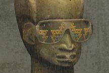 EARTHGLASSES lunettes I sunglasses / Lunettes ornementées vinyles réalisées par STRANGE FROOTS http://www.strangefroots.com