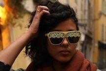 STRANGE FROOTS LOOKBOOK lunettes I sunglasses / http://www.strangefroots.com Lunettes ornementées vinyle réalisées par  STRANGE FROOTS