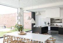 Concrete floors interiors