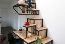 Mezzanine and stairs