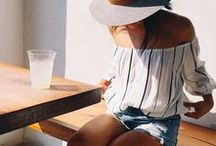 Summer Fashion / summer, fashion, design, style, pretty, ideas, etc.