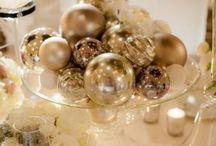 Warm Gold Christmas Wedding