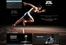 Website design / Inspiration for my fitness website.
