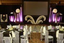 GREAT GATSBY Party Decor ideas / Family Reunion party ideas deco,  Fashion Evening,Wedding, Art Deco, Flapper, Duesenberg, champagne, Prohibition. Prom, Graduation, parties