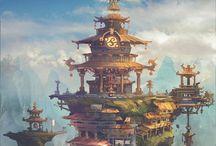 Concept - Another World / Concept Art - Fantasy, Landscape, City, Architecture