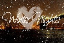 Winter❄️ / It's too cold outside for angels to fly..  Covered in white..