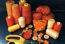Opulent Orange / Beautiful Orange cloths and napkins