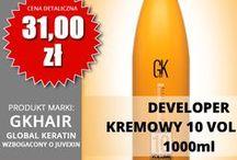 Koloryzacja: rozjaśniacze, developery i inne / Rozjaśniacze i developery marki Global Keratin GK Hair dostępne w sklepie www.globalker.pl