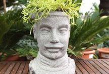 Heykel Saksılar / Özel Üretim Dekoratif Heykel Saksılar  www.greenmall.com.tr