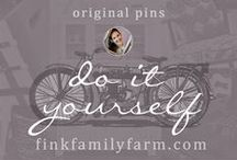 Fink Family Farm | DIY / Welcome to the Fink Family Farm DIY board!  Here, I pin only original projects, ideas, and work from my website, finkfamilyfarm.com.  I enjoy all types of DIY, especially furniture restoration projects, crafts & decorative pieces, interior design projects, children's toys and items, creating artwork, and sewing.   Hope you enjoy!  Don't forget to check out my other boards about design, decorating, organization, homesteading, and more!