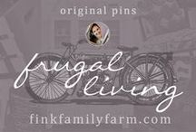 Fink Family Farm | Frugal Living / Welcome to the Fink Family Farm Frugal Living board!  Here, I pin only original projects from my website, finkfamilyfarm.com.  Our family lives on one small income willingly, and we see tremendous value and freedom in living frugally.  I hope to help those who also try to live on less achieve their goals so they can spend more time focusing on what is most important to them. Don't forget to check out my other boards about diy projects, organization, and more!