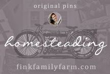 Fink Family Farm | Homesteading / Welcome to the Fink Family Farm Homesteading board!  Here, I pin only original projects from my website, finkfamilyfarm.com.  My family lives on a small farm where we make our own goat cheese, garden, freeze & can our food, raise pigs for meat & chickens for eggs, line dry our clothes, heat our home using a wood-burning stove, and cloth diaper our daughter.  (Yup, we're THOSE people!)  Don't forget to check out my other boards about diy projects, organization, frugal living, and more!