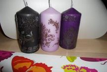 Candles / Candles and candlesticks that I made.