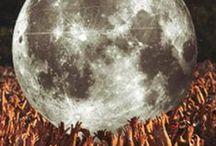 Luna Sol Estrellas galaxias planetas