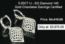 Diamond Chandeliers Earrings