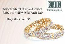 Diamond bangles / Wide range of bangle range from bridal bangles to wedding bangles in diamond gold & with gemstones.