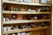 HaldeCraft Craft room organization / I work and live in the same place, and I'm mighty disorganized. Here's how I make it all work.