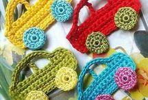 crocheting, knitting