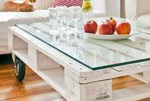 Decoración con Pallets y cajones / Decorá tus ambientes de manera económica y sencilla. Diferentes muebles realizados con pallets y cajones de frutas.