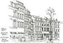 Arte y Aquitectura / Verás los mejores dibujos, pinturas y esculturas de edificaciones.