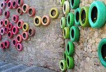 """Reifen Recycling-Ideen / DIY-Projekte aus alten Reifen: Möbel, Spielgeräte, Deko... Jede Menge Nützliches aus """"Altreifen"""""""
