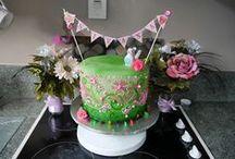 Sivana's first birthday / enchanted garden picnic theme