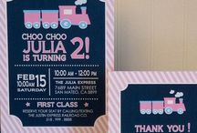 Girl Train Party / Choo! Choo! Welcome your guests aboard the party train with our party decor package!