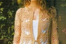 Lace Cardigans, Tops & Dresses / crochet or knit lacey cardigans